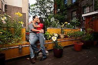 Michael lives with his wife, Nuri, in lower Manhattan and runs a successful motorcycle garage.