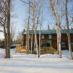 Medawisla Wilderness Camps near Greenville, Maine. Winter.