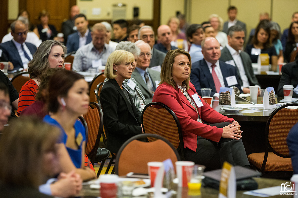 Attendees listen to a panel discussion during the Silicon Valley Business Journal's Future of Fremont event at Fremont Marriott Silicon Valley in Fremont, California, on June 18, 2019.  (Stan Olszewski for Silicon Valley Business Journal)