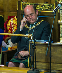 Pictured: Frank Ross, Edinburgh's Right Honourable Lord Lieutenant and Lord Provost.<br /> <br /> The 2018 General Assembly of the Church of Scotland begins.This year's annual gathering runs until Friday May 25<br /> <br /> Ger Harley   EEm 19 May 2018