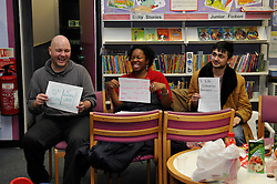 Five libraries in south London are to close, including one where protesters staged an all-night sit-in (PICTURED). The facilities in Blackheath, Sydenham, Crofton Park, New Cross and Grove Park will shut on 28 May. Lewisham Council said the move was to help meet a savings target of £88m over the next four years. Campaigners spent the night at New Cross Library earlier this month and protesters stormed a council meeting in November in protest at the cuts.©London News Pictures. 06/02/2011. Occupation of New Cross Library, LB Lewisham, South London today (06/02/2011). Protesters are taking part in a national day of action over planned library closures by staging an all night sit-in at New Cross library in south-east London. Photo credit should read: Tony Nandi/London News Pictures