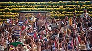 Pope John Paul II made his historic tour to the United States, September 10-18, 1987, visiting Miami, Florida; Columbia, SC; New Orleans, LA; San Antonio, TX, Phoenix, AZ, Los Angeles, CA; Monterrey, CA, San Francisco, CA, and Detroit, MI. <br /> <br /> Parade into the Miami, FL venue.