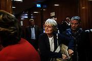 Anna Furlan durante l'incontro al Ministero del Lavoro e delle Politiche Sociali  con il governo e associazioni datoriali sulla legge di stabilita, Roma 27 ottobre 2014.  Christian Mantuano / OneShot