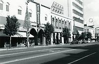 1971 NE corner of Hollywood Blvd. & Highland Ave. during Christmastime