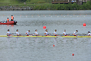 Chungju, South Korea.  Final Women's Eights, ITA W8+2013 FISA World Rowing Championships, Tangeum Lake International Regatta Course.15:54:05  Sunday  01/09/2013 [Mandatory Credit. Peter Spurrier/Intersport Images]<br /> <br /> 1USA W8+. Bow. Amanda POLK (b) , Kerry SIMMONDS (2) , Emily REGAN (3) , Lauren SCHMETTERLING (4) , Grace LUCZAK (5) , Meghan MUSNICKI (6) , Victoria OPITZ (7) , Caroline LIND (s) , Katelin SNYDER<br /> <br /> 2ROU W8+. Bow. Cristina ILIE (b) , Ionelia ZAHARIA (2) , Cristina GRIGORAS (3) , Ioana CRACIUN (4) , Camelia LUPASCU (5) , Andreea BOGHIAN (6) , Roxana COGIANU (7) , Nicoleta ALBU (s) , Daniela DRUNCEA.<br /> <br /> 3CANW8+. Bow. Lisa ROMAN (b) , Jennifer MARTINS (2) , Carolyn GANES (3) , Susanne GRAINGER (4) , Sarah BLACK (5) , Christine ROPER (6) , Natalie MASTRACCI (7) , Cristy NURSE (s) , Kristen KIT.<br /> <br /> 4.     GBRW8+. Melanie WILSON (b) , Caragh MCMURTRY (2) , Louisa REEVE (3) , Beth RODFORD (4) , Jessica EDDIE (5) , Zoe LEE (6) , Katie GREVES (7) , Olivia CARNEGIE-BROWN (s) , Zoe DE TOLEDO. <br /> <br /> 5AUSW8+. Bow. Hannah VERMEERSCH (b) , Renee CHATTERTON (2) , Peta WHITE (3) , Katrina BATEMAN (4) , Tess GERRAND (5) , Alexandra HAGAN (6) , Charlotte SUTHERLAND (7) , Lucy STEPHAN (s) , Elizabeth PATRICK.<br /> <br /> 6NED W8+. Bow. Marleen VERBURGH (b) , Kyra DE VRIES (2) , Aletta JORRITSMA (3) , Janneke VAN DER MEULEN (4) , Kirsten WIELAARD (5) , Dominique Van der PAUW (6) , Rosa BAS (7) , Heleen BOERS (s) , Jonna DE VRIES (c)
