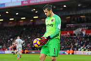 Lukasz Fabianski (1) of West Ham United during the Premier League match between Bournemouth and West Ham United at the Vitality Stadium, Bournemouth, England on 19 January 2019.