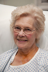 Portrait of patient on Cardiology Ward,