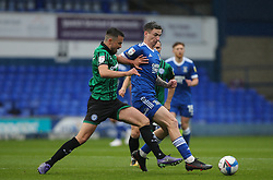 Eoghan O'Connell of Rochdale and Oliver Hawkins of Ipswich Town battle for the ball - Mandatory by-line: Arron Gent/JMP - 26/09/2020 - FOOTBALL - Portman Road - Ipswich, England - Ipswich Town v Rochdale - Sky Bet League One