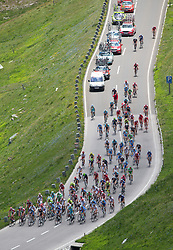 04.07.2012, Osttirol, AUT, 64. Oesterreich Rundfahrt, 4. Etappe, Lienz - St. Johann Alpendorf, im Bild das Peleton vor dem Hochtor // the Peleton before Hochtor during the 64rd Tour of Austria, Stage 4, from Lienz to St. Johann Alpendorf, Lienz, Austria on 2012/07/04. EXPA Pictures © 2012, PhotoCredit: EXPA/ Johann Groder