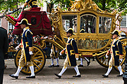 The Golden Coach rides to the Dutch parliament on Prinsjesdag (Princes' Day). King Willem Alexander addresses the Dutch Senate and House of Representatives to give the speech from the throne (Troonrede), setting out the main features of government policy for the coming parliamentary session.