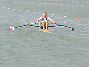 Lucerne, SWITZERLAND, CZE M 1X, Ondrej SYNEK, moves away from the start, of the third round of the  2009 FISA World Cup,  on the Rottsee regatta Course, Friday  10/07/2009  [Mandatory Credit Peter Spurrier/ Intersport Images].