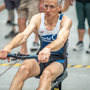 1:40 PM- Perry Group #24- Men?s 500m Masters B, C, Novice<br /> <br /> NZ Indoor Champs, raced at Avanti Drome, Cambridge, New Zealand, Saturday 23rd November 2019 © Copyright Steve McArthur / @rowingcelebration www.rowingcelebration.com