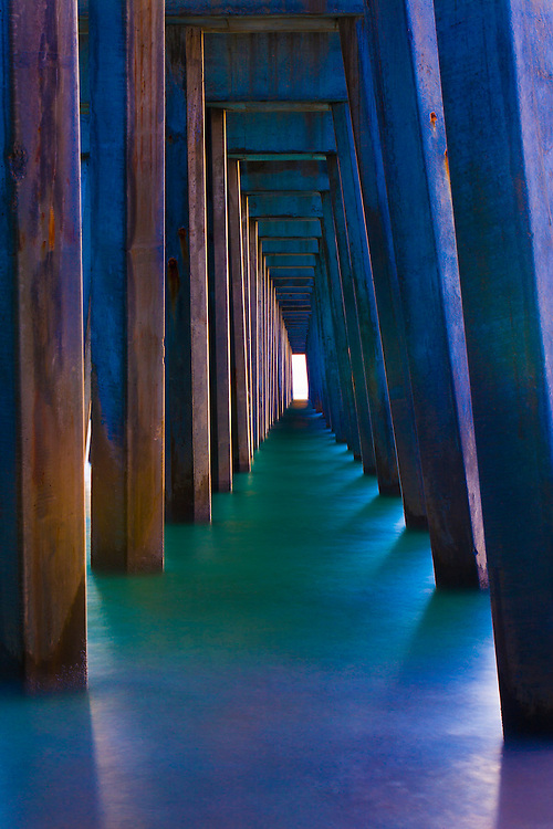 under the fishing peir in Panama City florida