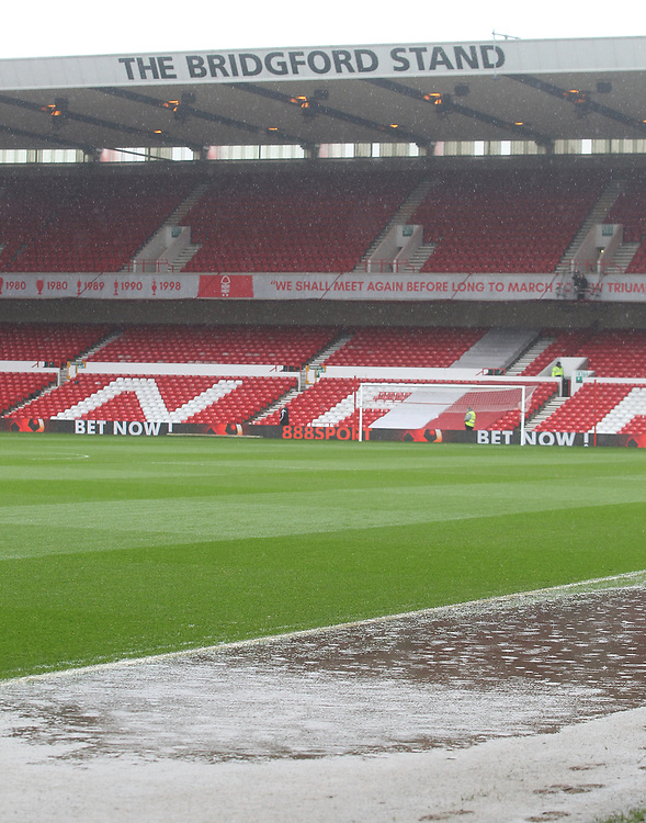 The game is called off due to a water logged pitch<br /><br />Photographer Mick Walker/CameraSport<br /><br />The EFL Sky Bet Championship - Nottingham Forest v Barnsley - Monday 2nd April 2018 - The City Ground - Nottingham<br /><br />World Copyright © 2018 CameraSport. All rights reserved. 43 Linden Ave. Countesthorpe. Leicester. England. LE8 5PG - Tel: +44 (0) 116 277 4147 - admin@camerasport.com - www.camerasport.com