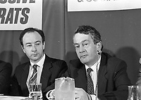 Progressive Democrats Candidates for Dublin South at the convention in the IMI Sandyford, 15/10/1986 (Part of the Independent Newspapers Ireland/NLI Collection).