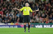 Referee Martin Atkinson - Football - Barclays Premier League - Stoke City vs Burnley - Britannia Stadium Stoke - Season 2014/2015 - 22nd November 2015 - Photo Malcolm Couzens /Sportimage