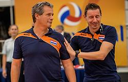 24-09-2016 NED: EK Kwalificatie Nederland - Wit Rusland, Koog aan de Zaan<br /> Nederland wint na een 2-0 achterstand in sets met 3-2 / Coach Gido Vermeulen, Assistent coach Dirk Jan van Gendt