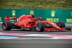 Kimi Raikkonen (Scuderia Ferrari) rides during the qualifying session of Grand Prix de France 2018, Le Castellet, France, on June 23rd, 2018. Photo by Marco Piovanotto/ABACAPRESS.COM