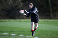 Hallam Amos  of Wales during the Wales Rugby team training at the Vale Resort, Hensol near Cardiff, South Wales on Tuesday 30th January 2018.  The team are preparing for the the opening Natwest 6 nations match against Scotland this weekend.  pic by Andrew Orchard, Andrew Orchard sports photography.