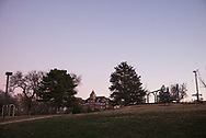 Nazareth Convent and Academy, or Motherhouse, sits on a hill and can be seen from many locations in Concordia. The building began construction in 1902. According to sister Ann, when she first arrived there were 80 sisters, now there around 30-40.