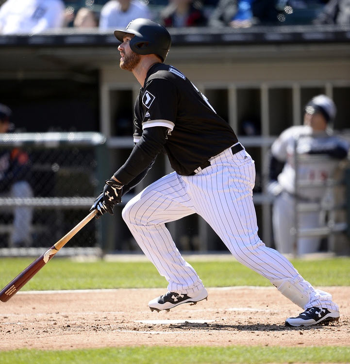 CHICAGO - APRIL 06:  Matt Davidson #24 of the Chicago White Sox bats against the Detroit Tigers on April 6, 2017 at Guaranteed Rate Field in Chicago, Illinois.  The White Sox defeated the Tigers 11-2.  (Photo by Ron Vesely)   Subject:  Matt Davidson