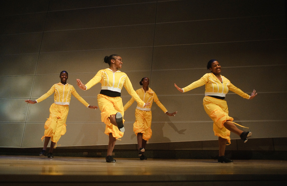 (photo by Matt Roth).Friday, June 18, 2010..Inertia Performing Arts' Spring Concert at MICA's Falvey Hall in the Brown Center...Double Dutch Bus, T2, T3