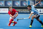 England's Ollie Willars. England v Argentina - Hockey World League Semi Final, Lee Valley Hockey and Tennis Centre, London, United Kingdom on 18 June 2017. Photo: Simon Parker