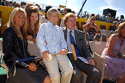 The HON.CHARLES & MRS PEARSON and their children CORINTHIA PEARSON and GEORGE PEARSON at the final of the Veuve Clicquot Gold Cup 2007 at Cowdray Park, West Sussex on 22nd July 2007.<br /><br />NON EXCLUSIVE - WORLD RIGHTS