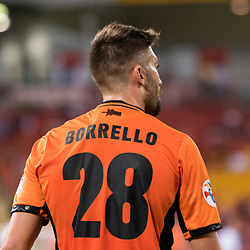 BRISBANE, AUSTRALIA - APRIL 12: Brandon Borrello of the Roar looks on during the Asian Champions League Group Stage match between the Brisbane Roar and Kashima Antlers at Suncorp Stadium on April 12, 2017 in Brisbane, Australia. (Photo by Patrick Kearney/Brisbane Roar)