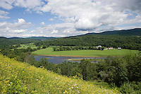 Upper Valley Connecticut River landscape at Monore, NH