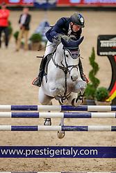 DREHER Hans-Dieter (GER), Cachacco Blue<br /> Leipzig - Partner Pferd 2020<br /> Glas Strack Speed Cup<br /> Zeitspringprfg., international<br /> Höhe: 1.45 m<br /> 18. Januar 2020<br /> © www.sportfotos-lafrentz.de/Stefan Lafrentz