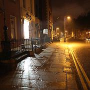 A rainy Dublin Street Scene at night. Dublin, Ireland. Photo Tim Clayton