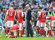 Arsenal's Arsene Wenger in action during the FA Cup Semi Final match at Wembley Stadium, London. Picture date: April 23rd, 2017. Pic credit should read: David Klein/Sportimage