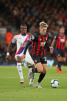 Football - 2018 / 2019 Premier League - AFC Bournemouth vs. Crystal Palace<br /> <br /> Bournemouth's David Brooks out paces Wilfried Zaha of Crystal Palace at the Vitality Stadium (Dean Court) Bournemouth <br /> <br /> COLORSPORT/SHAUN BOGGUST