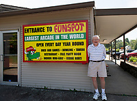 Bob Lawton is ready to open the doors to Funspot on Monday, June 29th with social distancing guidelines.  (Karen Bobotas/for the Laconia Daily Sun)