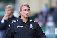 Manager of Birmingham City Lee Clark during the Capital One Cup match, 2nd round, Yeovil Town v Birmingham City at Huish Park in Yeovil on Tuesday 27th August 2013. pic by Sophie Elbourn, Andrew Orchard sports photography,