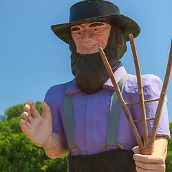 Big Amos is a large fiberglass statue depicting a barefoot Amish man in Lancaster County, PA