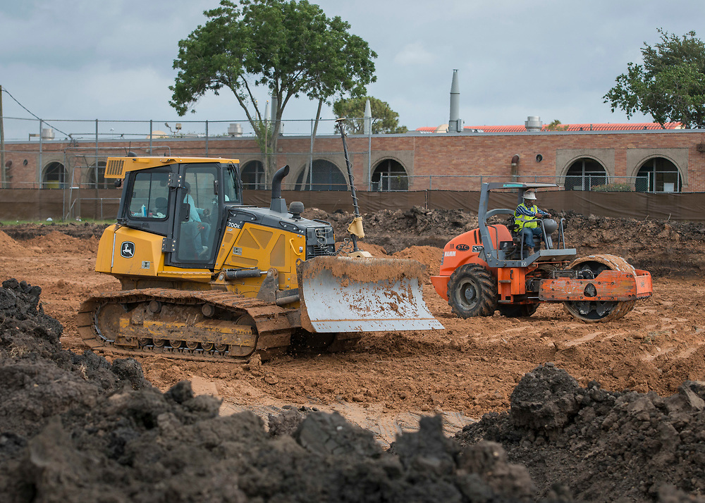 Construction at Madison High School, May 18, 2017.
