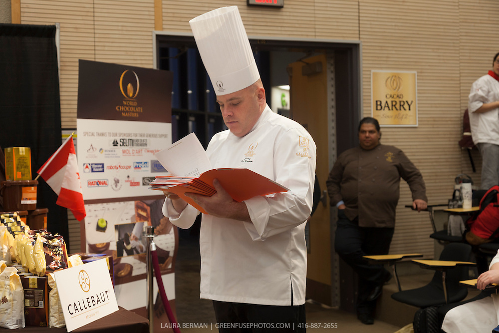 Judge Tim Wasylko. World Chocolate Masters Canadian Selection, January 20, 2013.