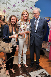 Left to right, ARABELLA HOLLAND and MICHAEL & CLARE TOLLEMACHE at a party to celebrate the paperback launch of Detmar Blow's book 'Blow by Blow' held at Selina Blow, 1 Ellis Street, London SW1 on 21st June 2011.