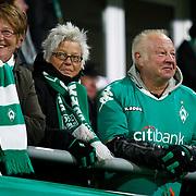 Werder Bremen's Supporters fans during their Tuttur.com Cup matchday 2 soccer match Trabzonspor between  Werder Bremen at Mardan stadium in AntalyaTurkey on 07 Monday January, 2013. Photo by Aykut AKICI/TURKPIX