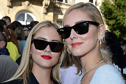 Chiara Ferragni and her sister Valentina Ferragni attending the Jacquemus Fashion Show during Paris Fashion Week Womenswear Spring - summer 2019 held in Paris, France on september 24 , 2018. Photo by Aurore Marechal/ABACAPRESS.COM