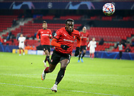 Faitout Maouassa of Stade Rennais during the UEFA Champions League, Group E football match between Stade Rennais and Sevilla FC (FC Seville) on December 8, 2020 at Roazhon Park in Rennes, France - Photo Jean Catuffe / ProSportsImages / DPPI