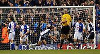 Photo: Daniel Hambury.<br />Tottenham Hotspur v Blackburn Rovers. The Barclays Premiership. 05/03/2006.<br />Tottenham's Mido celebrates making it 3-2.