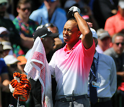 March 16, 2018 - Orlando, FL, USA - Tiger Woods towels off during driving practice on the second day of the Arnold Palmer Invitational at Bay Hill Friday, March 16, 2018 in Orlando, Fla. (Credit Image: © Joe Burbank/TNS via ZUMA Wire)