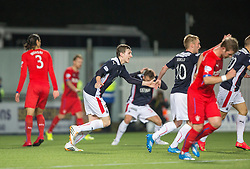 Falkirk players appeal for a penalty. Falkirk 1 v 3 Rangers, Scottish League Cup game played 23/9/2014 at The Falkirk Stadium.