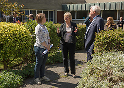 Environment Secretary, Roseanna Cunningham MSP, was in Portobello today to meet the Action Porty community right-to-buy group to mark the Scottish Government giving consent to proceed with the first community right to buy in an urban area. Pictured: Kyrsta Macdonald-Scott, Roseanna Cunningham MSP, Rev Dr George Whyte, Church Commissioners <br /> <br /> © Jon Davey/ EEm