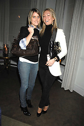 Left to right, VIOLET VON WESTENHOLTZ and OLIVIA BUCKINGHAM at a party to promote The Landau at The Langham, Portland Place, London W1 on 7th February 2008.<br />