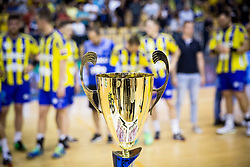 Trophy for National Champions 2017  RK Celje  during trophy ceremony after handball match between RK Celje Pivovarna Lasko and RK Gorenje Velenje in Last Round of 1. Liga NLB 2016/17, on June 2, 2017 in Arena Zlatorog, Celje, Slovenia. Photo by Vid Ponikvar / Sportida
