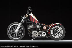 Daddio's Enigma built from a 1970 Shovelhead by Pat Morris of Barb's HD in Cinnaminson, NJ. Photographed by Michael Lichter in Columbus, OH on 2/11/18. ©2018 Michael Lichter.